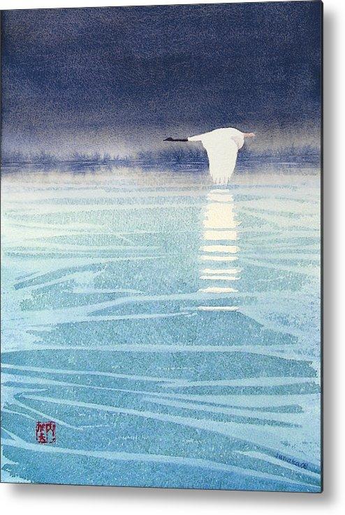 Asian Art Metal Print featuring the painting Asian Swan by Janaka Ruiz