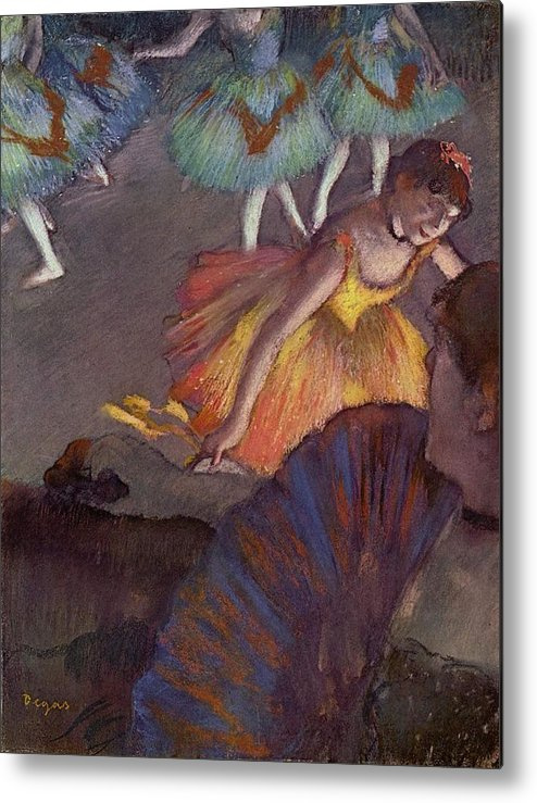 Edgar Degas Metal Print featuring the digital art Ballet by Edgar Degas