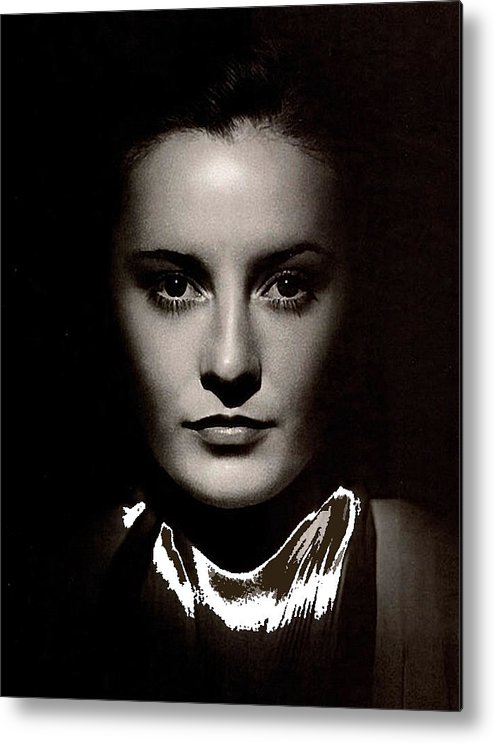 Barbara Stanwyck Early In Her Career C.1933 Metal Print featuring the photograph Barbara Stanwyck Early In Her Career C.1933-2014 by David Lee Guss