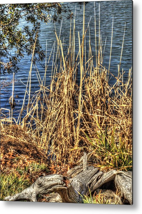 Hdr Metal Print featuring the photograph Blue Water 2 by John Straton