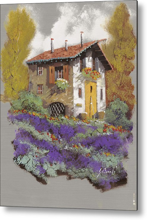 Landscape Metal Print featuring the painting Cento Lavande by Guido Borelli