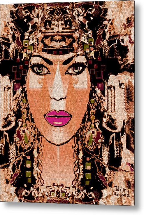 Cleopatra Metal Print featuring the mixed media Cleopatra by Natalie Holland