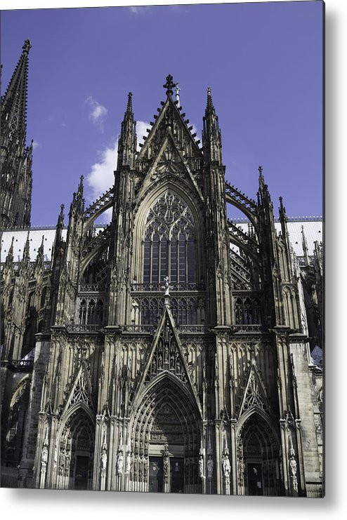 2014 Metal Print featuring the photograph Cologne Cathedral 02 by Teresa Mucha