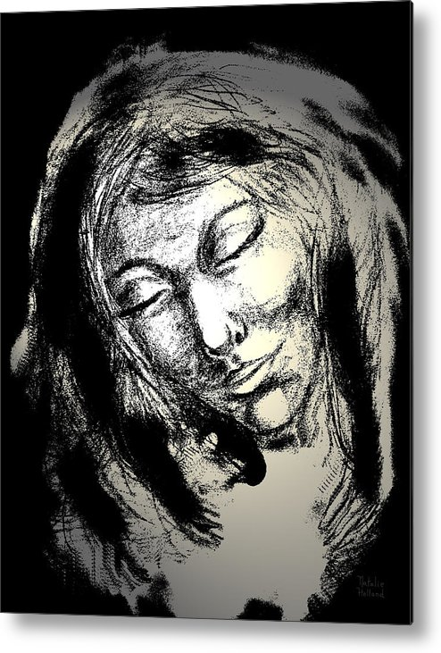 Woman Metal Print featuring the drawing Enlightenment by Natalie Holland