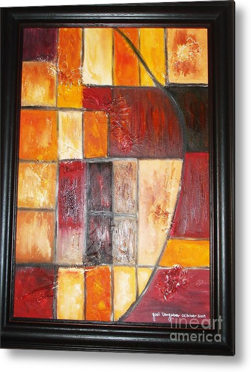 Oil Painting Metal Print featuring the painting Fit by Yael VanGruber