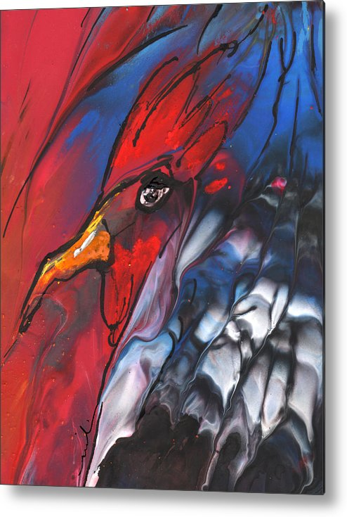 Fantasy Metal Print featuring the painting French Cokerel by Miki De Goodaboom