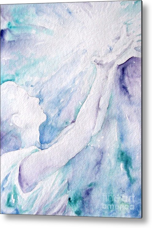 People Metal Print featuring the painting Give And Receive by Jennifer Apffel