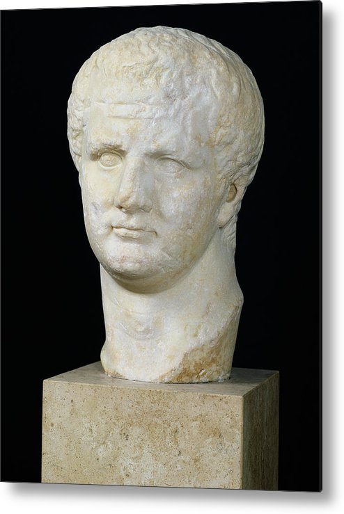 Tete De Metal Print featuring the sculpture Head Of Titus by Anonymous