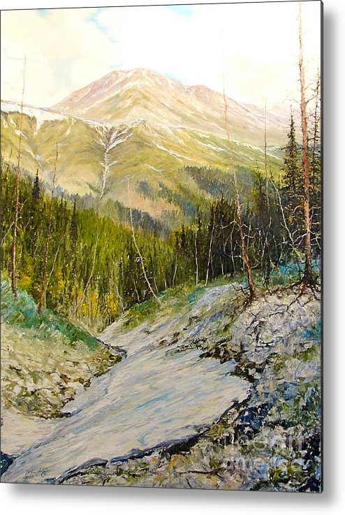 Landscape Oil Painting Metal Print featuring the painting Independence Pass by Dave  ILes