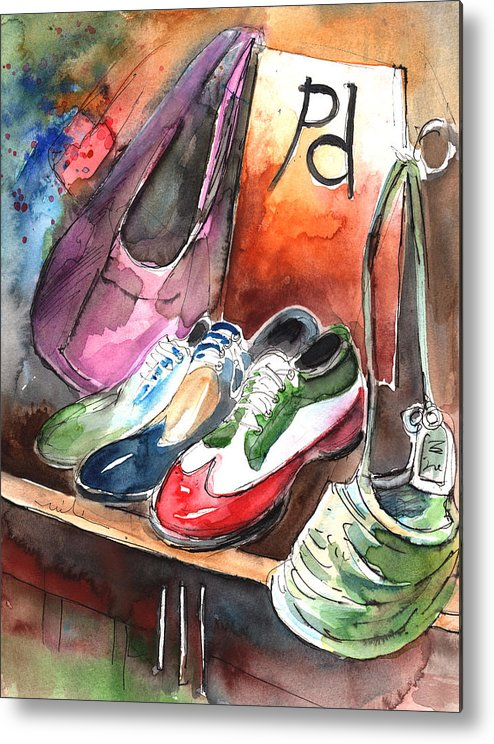 Italy Metal Print featuring the painting Italian Shoes 01 by Miki De Goodaboom
