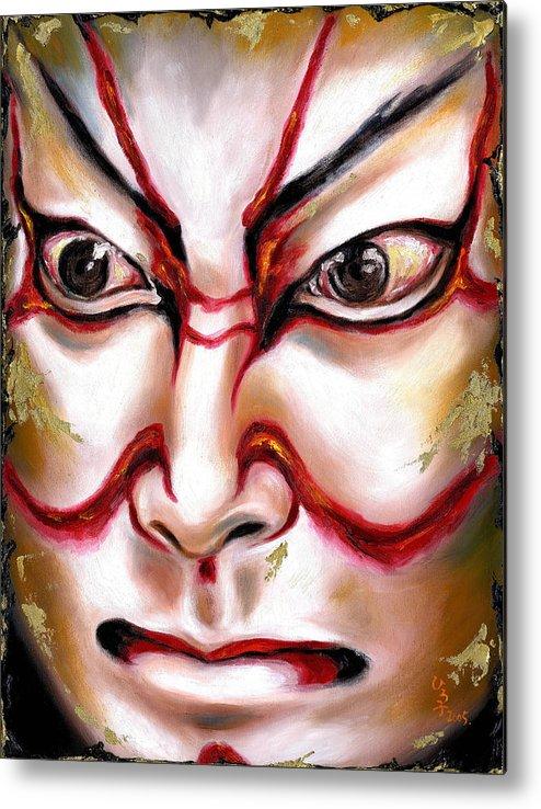 Kabuki Metal Print featuring the painting Kabuki One by Hiroko Sakai