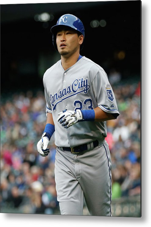 American League Baseball Metal Print featuring the photograph Kansas City Royals V Seattle Mariners by Otto Greule Jr