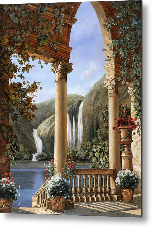 Water Fall Metal Print featuring the painting Le Cascate by Guido Borelli