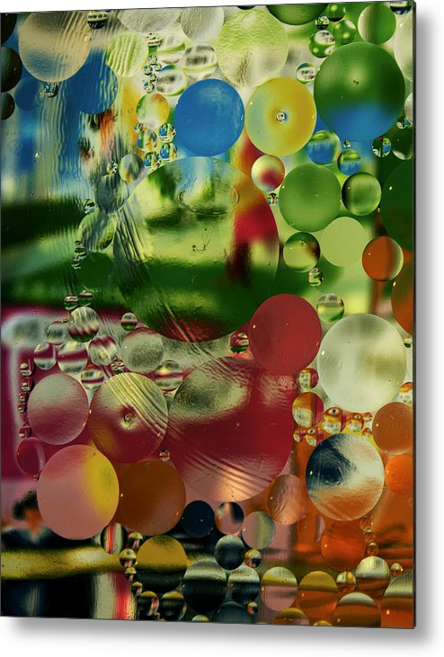Bubbles Metal Print featuring the photograph Liquid Marbles Two by Jose Oquendo