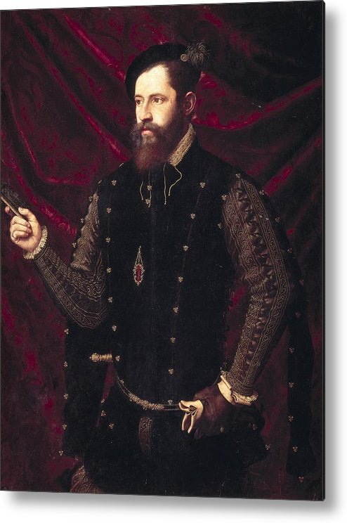 Vertical Metal Print featuring the photograph Ma�ip, Vicente 1480-1550. Portrait by Everett