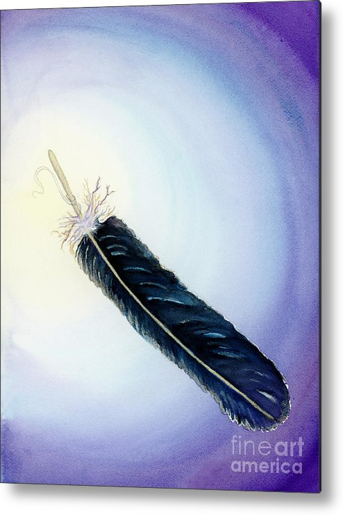 L. T. Sparrow Metal Print featuring the painting Message From The Void by L T Sparrow
