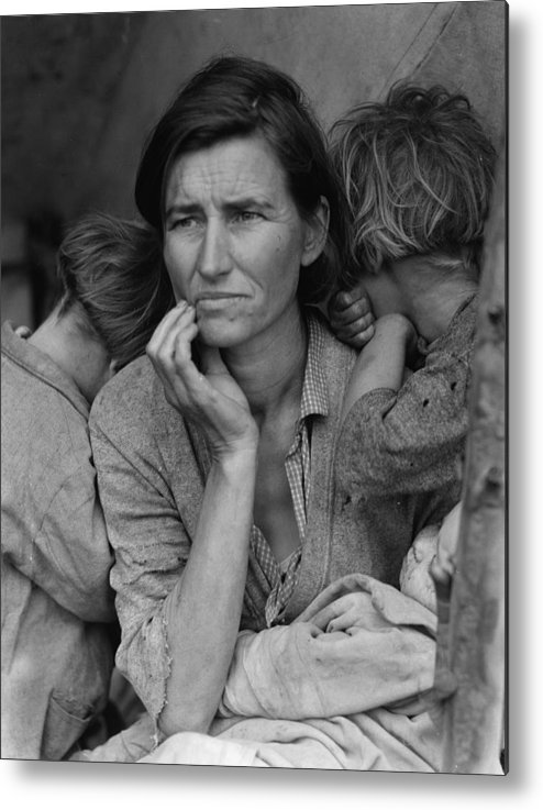 1936 Photographs Metal Print featuring the photograph Migrant Mother by Historic Photos