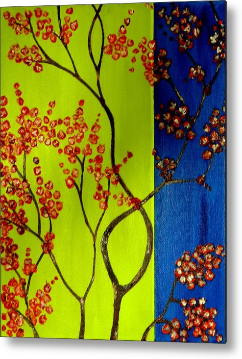 Neon Metal Print featuring the painting Neon Spring - 2 by Shweta Sinha