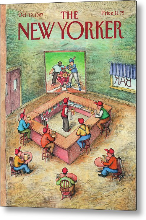 Leisure Metal Print featuring the painting New Yorker October 19th, 1987 by John O'Brien