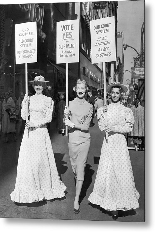 1958 Metal Print featuring the photograph Parade For Court Reform by Underwood Archives