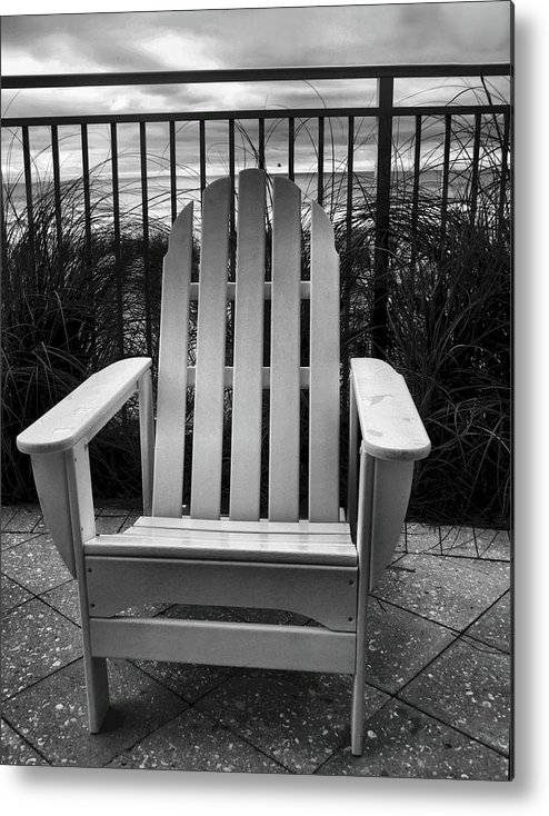 Beach Chair Metal Print featuring the photograph Poolside And Gulfside by Julie Dant