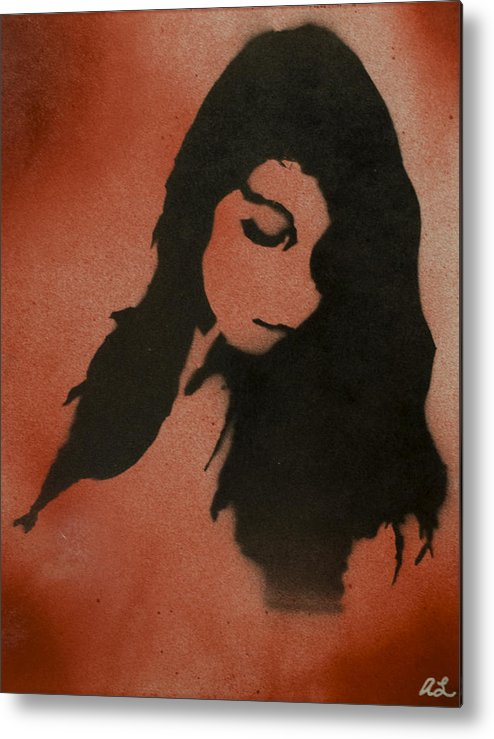 Portrait Metal Print featuring the painting Portrait Of Ji by Aaron La Plante