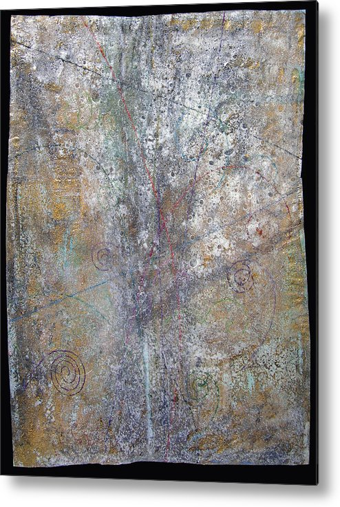Sub-atomic Metal Print featuring the painting Revelations II--trails by Fred Chuang