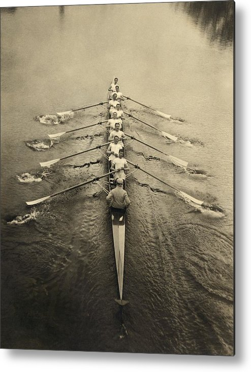 Human Metal Print featuring the photograph Rowing Crew, Early 20th Century by Science Photo Library