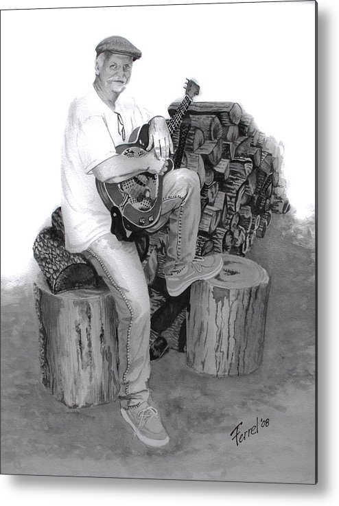 Musician Metal Print featuring the painting Sherman Dillon by Ferrel Cordle