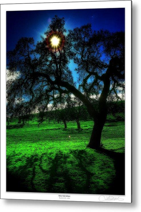 Matre Metal Print featuring the painting Solar-oak Eclipse by Lar Matre