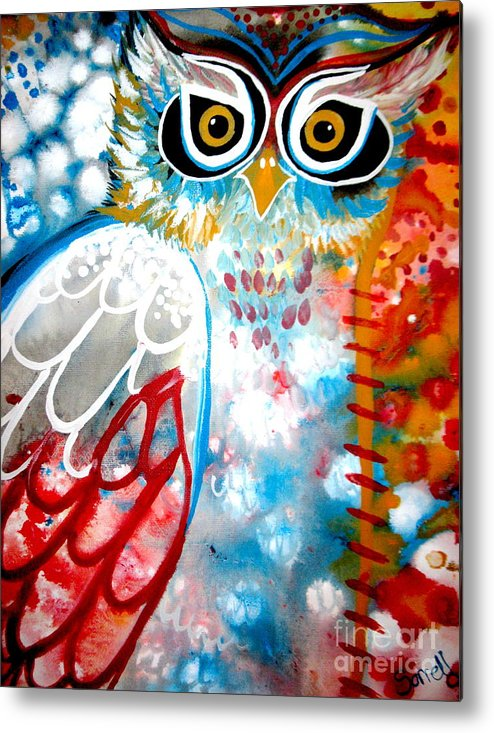 Owl Metal Print featuring the painting Sprinkles by Amy Sorrell