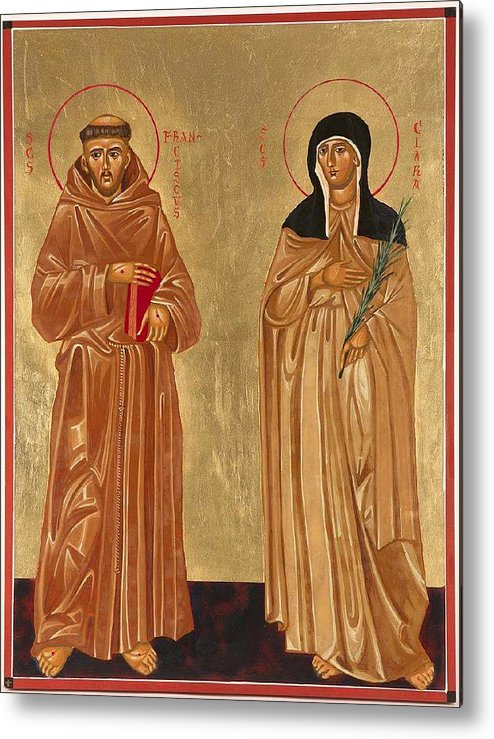 Icons Metal Print featuring the painting St. Francis Of Assisi And St. Clare by Joseph Malham