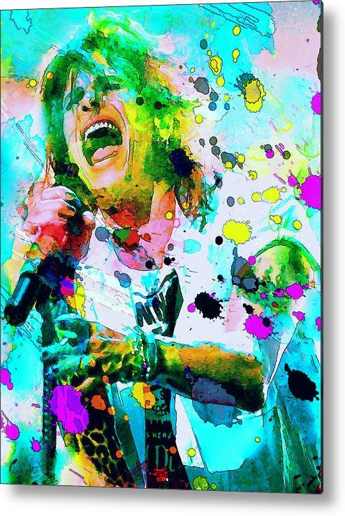 Steven Tyler Metal Print featuring the painting Steven Tyler by Rosalina Atanasova