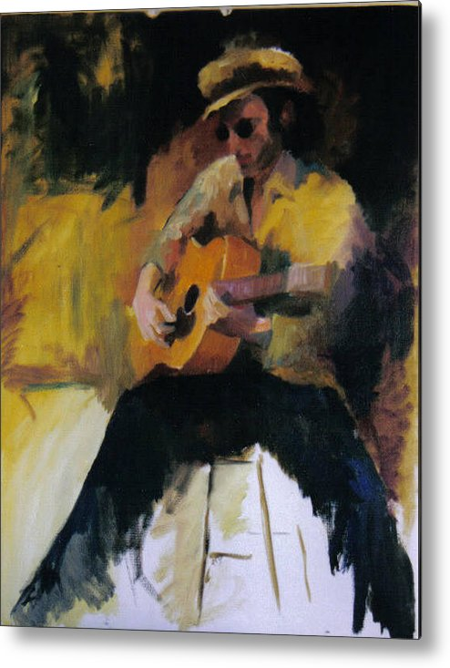 Man Metal Print featuring the painting The Blues Man by John L Campbell