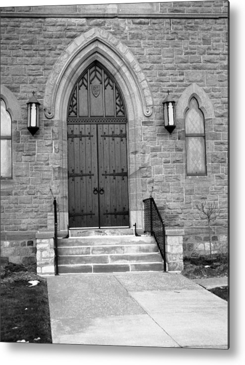 Chapel Doors Metal Print featuring the photograph The Chapel by Lonnie Niver