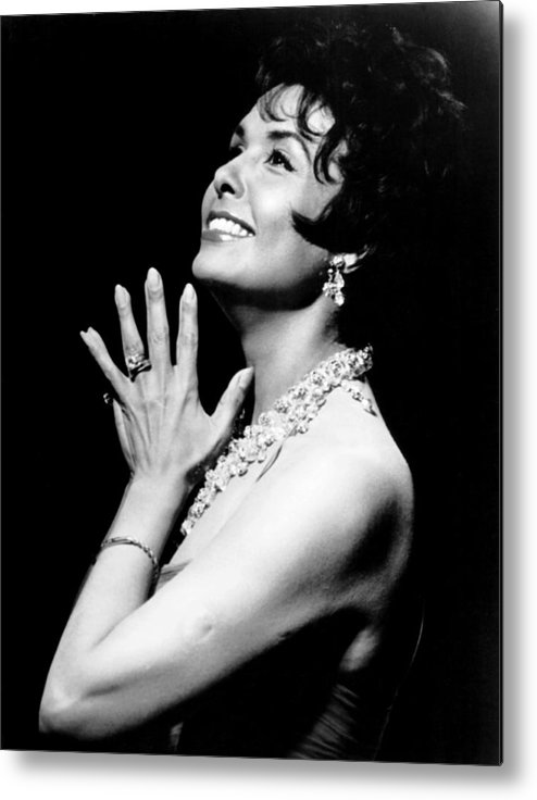 1960s Portraits Metal Print featuring the photograph The Most In Music Lena In Session, Lena by Everett