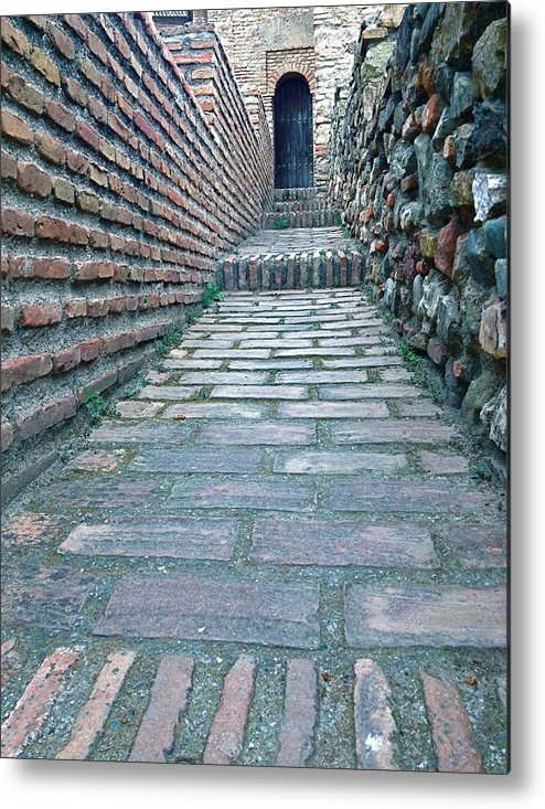 Bricks Metal Print featuring the photograph The Perspective Of Bricks by Hannah Rose