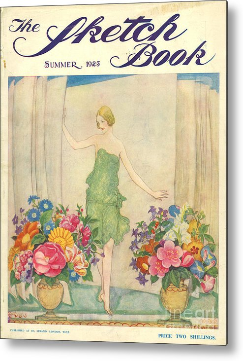 1920�s Metal Print featuring the drawing The Sketch Book 1925 1920s Uk Womens by The Advertising Archives
