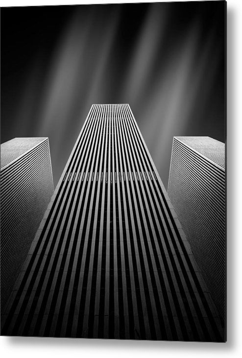 Architecture Metal Print featuring the photograph The W by Olivier Schwartz