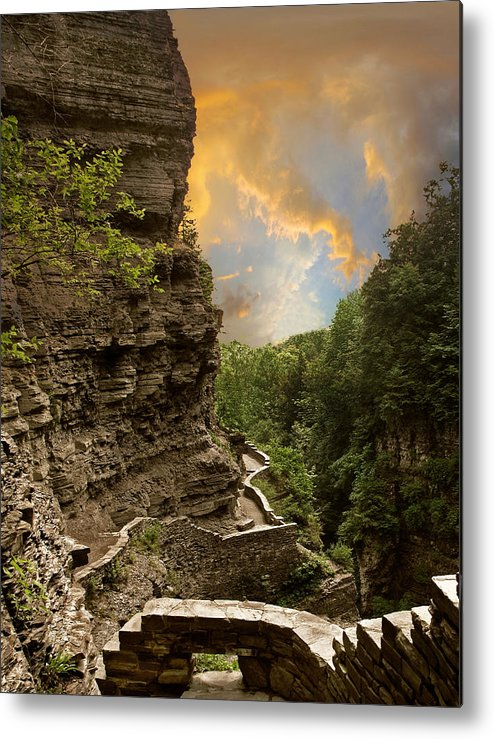 Nature Metal Print featuring the photograph The Winding Trail by Jessica Jenney