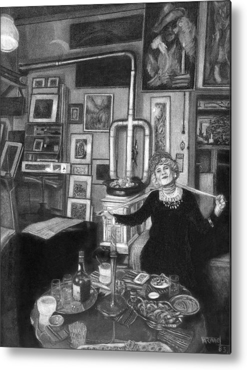 Old Woman Metal Print featuring the drawing Tho Bohemian by Fernando Armel
