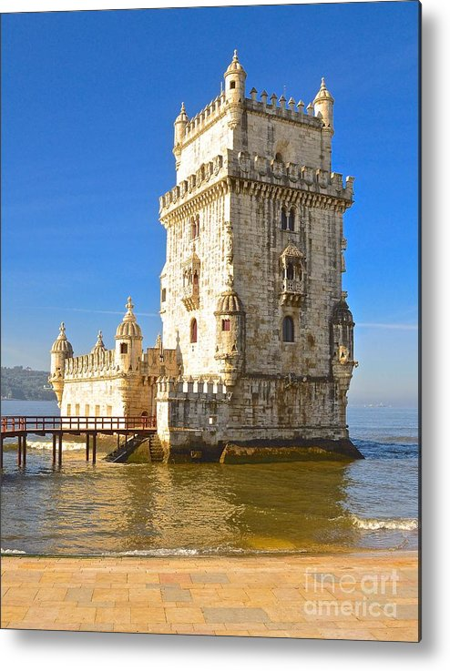 Landscape Metal Print featuring the photograph Tower Of Belem by Eric Reger