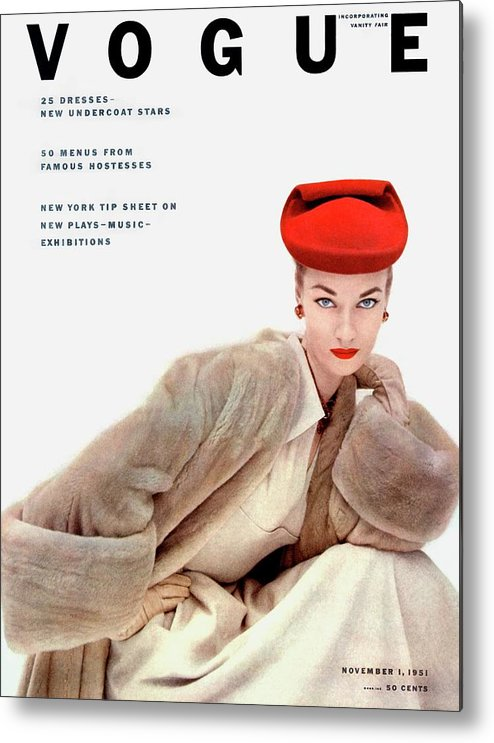 Fashion Metal Print featuring the photograph Vogue Cover Of Janet Randy by Clifford Coffin