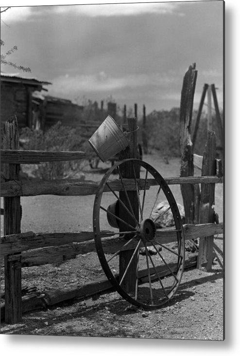 Stein Metal Print featuring the photograph Wagon Wheel by Michael Anderson