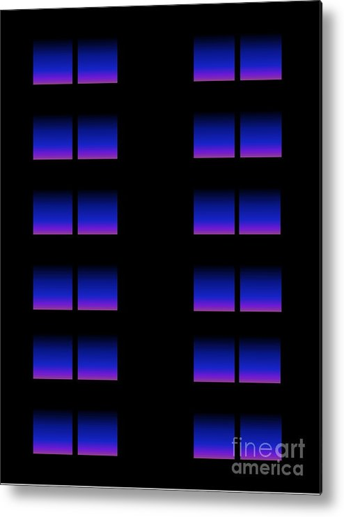 Abstract Metal Print featuring the digital art Windows by Gayle Price Thomas