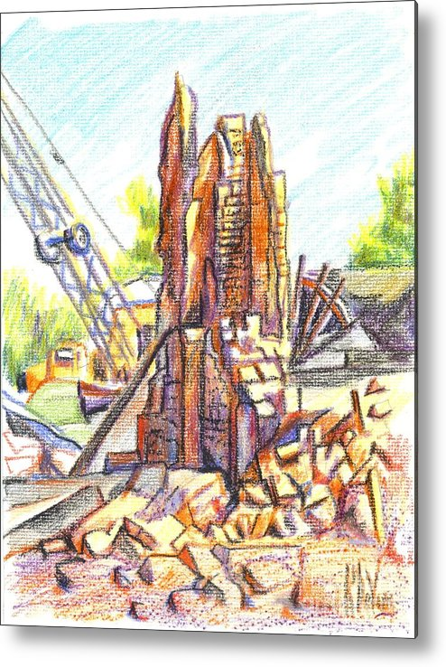 Wrecking Ball Metal Print featuring the painting Wrecking Ball by Kip DeVore