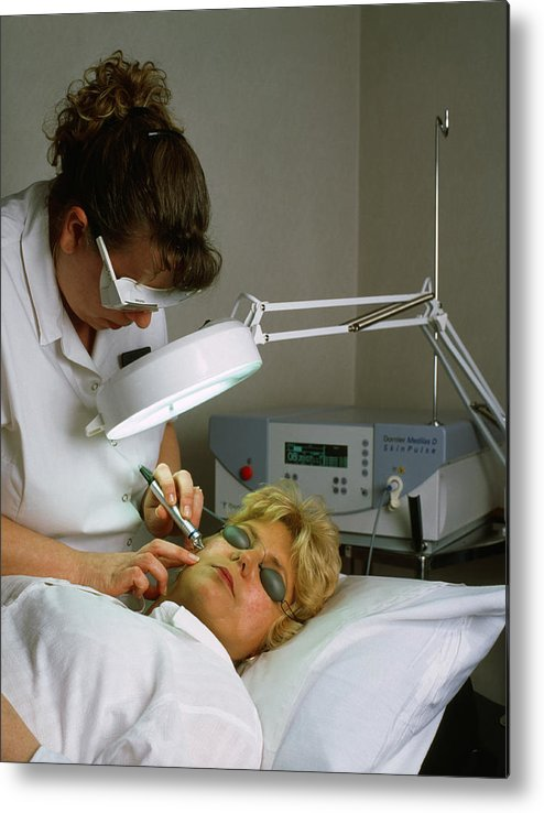 Dermatology Metal Print featuring the photograph Cosmetic Laser Surgery by Tony Mcconnell