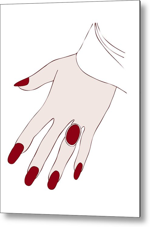 Fashion Metal Print featuring the painting Ring Finger by Frank Tschakert