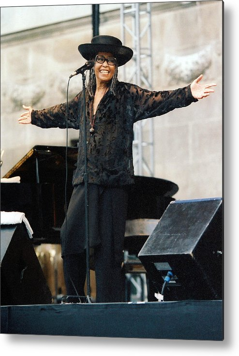 Jazz Metal Print featuring the photograph Abbey Lincoln by Tony Graves