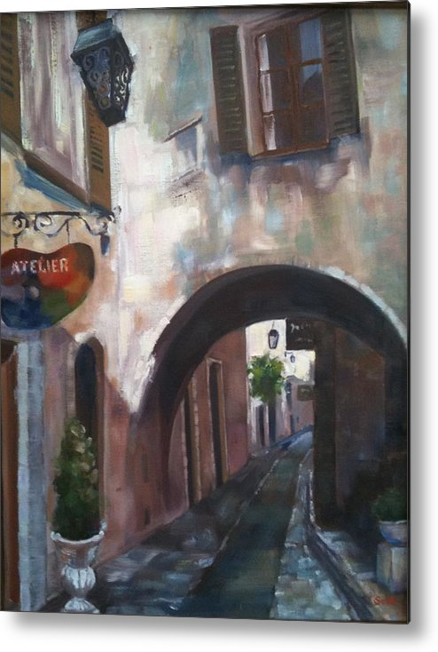 Atelier Metal Print featuring the painting Artist Alley by Linda Scott